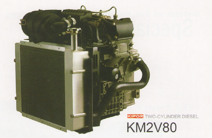 Kipor Engine Km2v80 Ptr Machinery